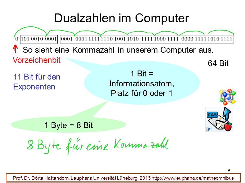 Dualzahlen im Computer Ergebnisse: Prof. Dr.