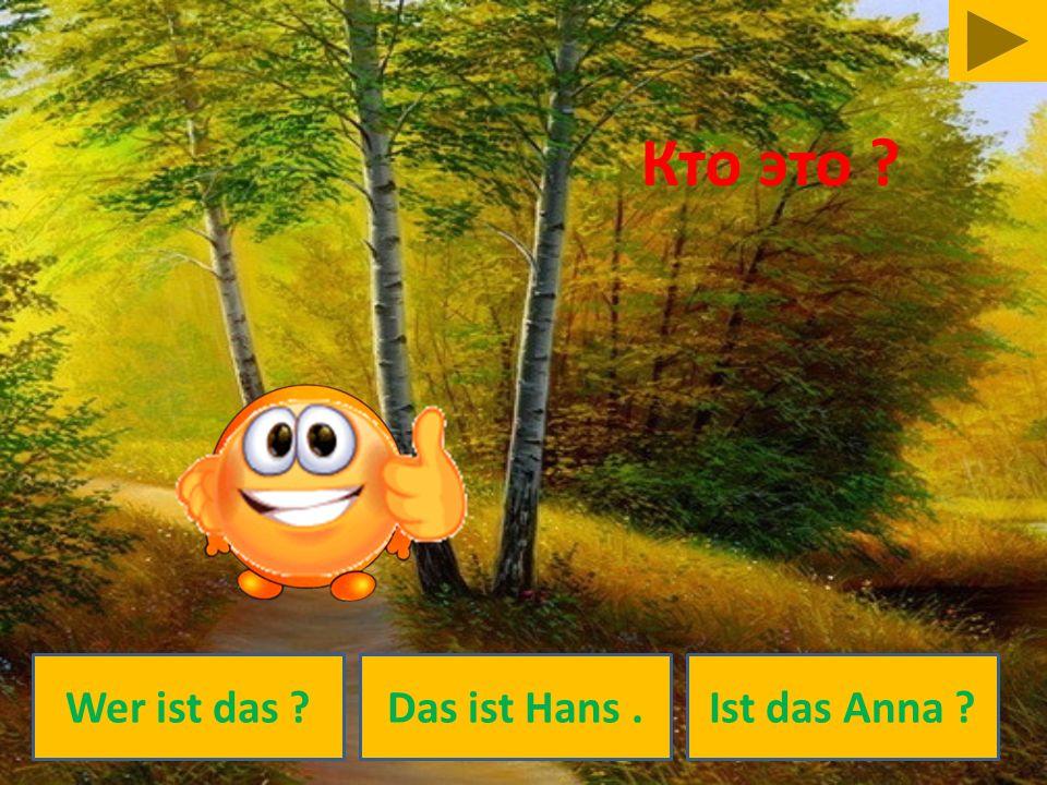 Wer ist das ?Das ist Hans.Ist das Anna ? Кто это ?