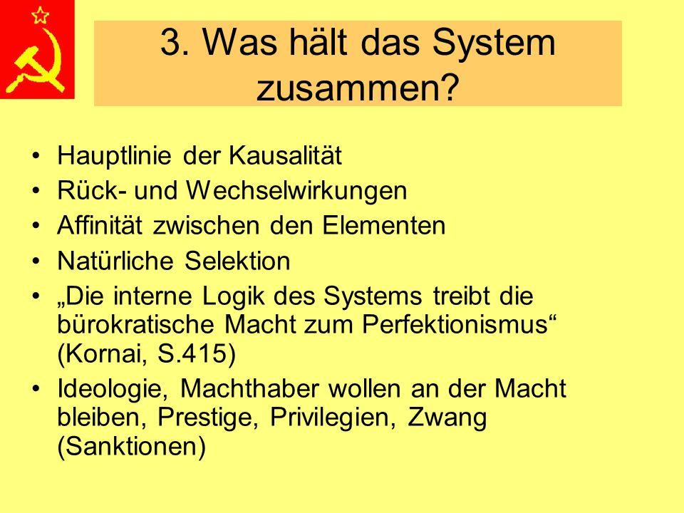 """3. Was hält das System zusammen? Hauptlinie der Kausalität Rück- und Wechselwirkungen Affinität zwischen den Elementen Natürliche Selektion """"Die inter"""