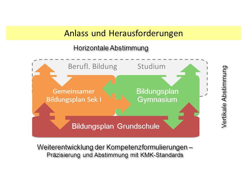 Anlass und Herausforderungen Vertikale Abstimmung Berufl.