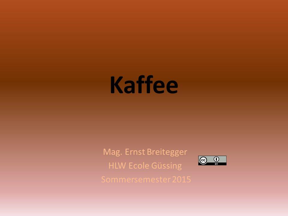 Kaffee Mag. Ernst Breitegger HLW Ecole Güssing Sommersemester 2015