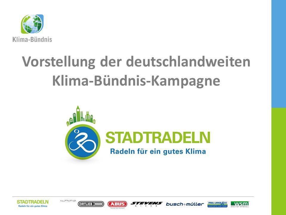 HAUPTPARTNER EINE KAMPAGNE DES 1 / 21 Vorstellung der deutschlandweiten Klima-Bündnis-Kampagne