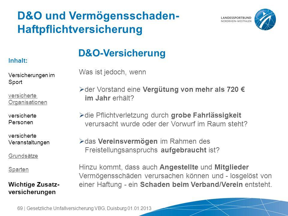 D&O und Vermögensschaden- Haftpflichtversicherung Was ist jedoch, wenn  der Vorstand eine Vergütung von mehr als 720 € im Jahr erhält?  die Pflichtv