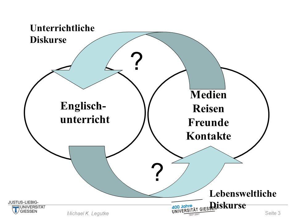 Seite 3 Michael K. Legutke Medien Reisen Freunde Kontakte Englisch- unterricht .