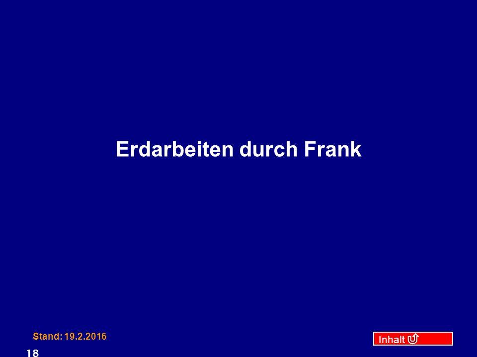 Inhalt Stand: 19.2.2016 18 Erdarbeiten durch Frank