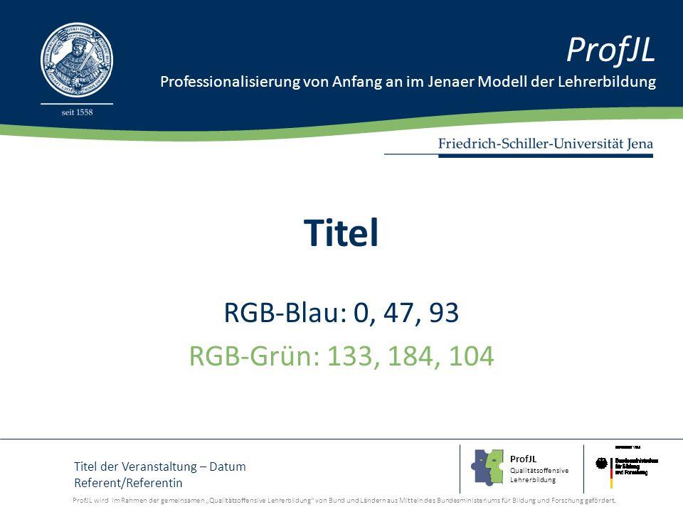 ProfJL Qualitätsoffensive Lehrerbildung ProfJL Professionalisierung von Anfang an im Jenaer Modell der Lehrerbildung ProfJL wird im Rahmen der gemeins