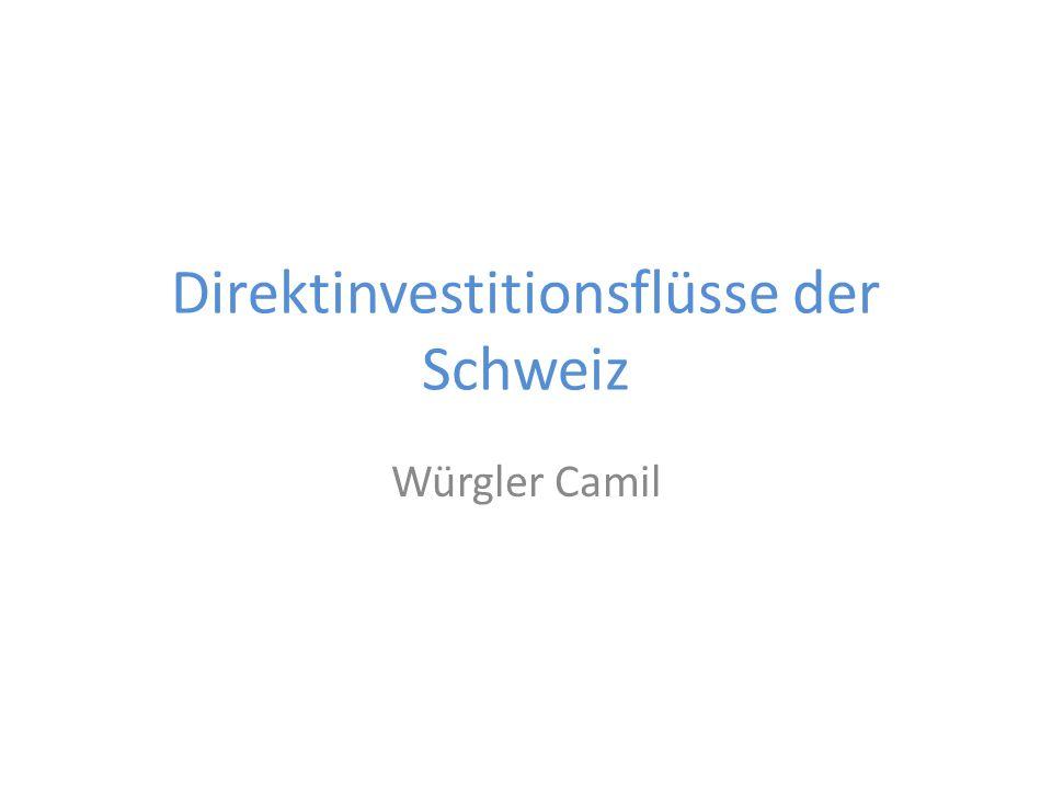 Direktinvestitionsflüsse der Schweiz Würgler Camil
