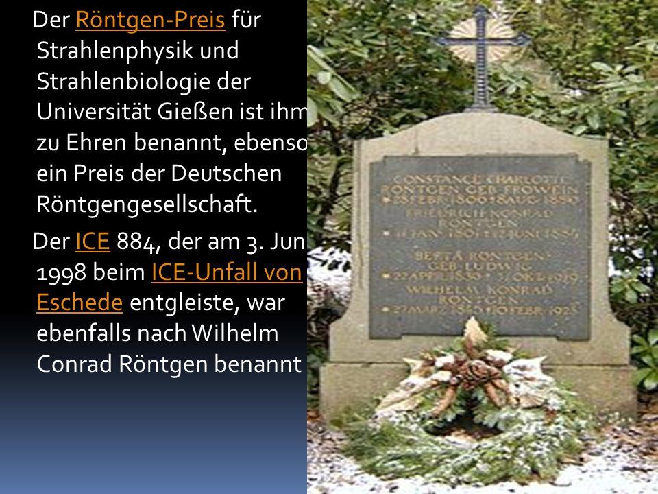Der Röntgen-Preis für Strahlenphysik und Strahlenbiologie der Universität Gießen ist ihm zu Ehren benannt, ebenso ein Preis der Deutschen Röntgengesel