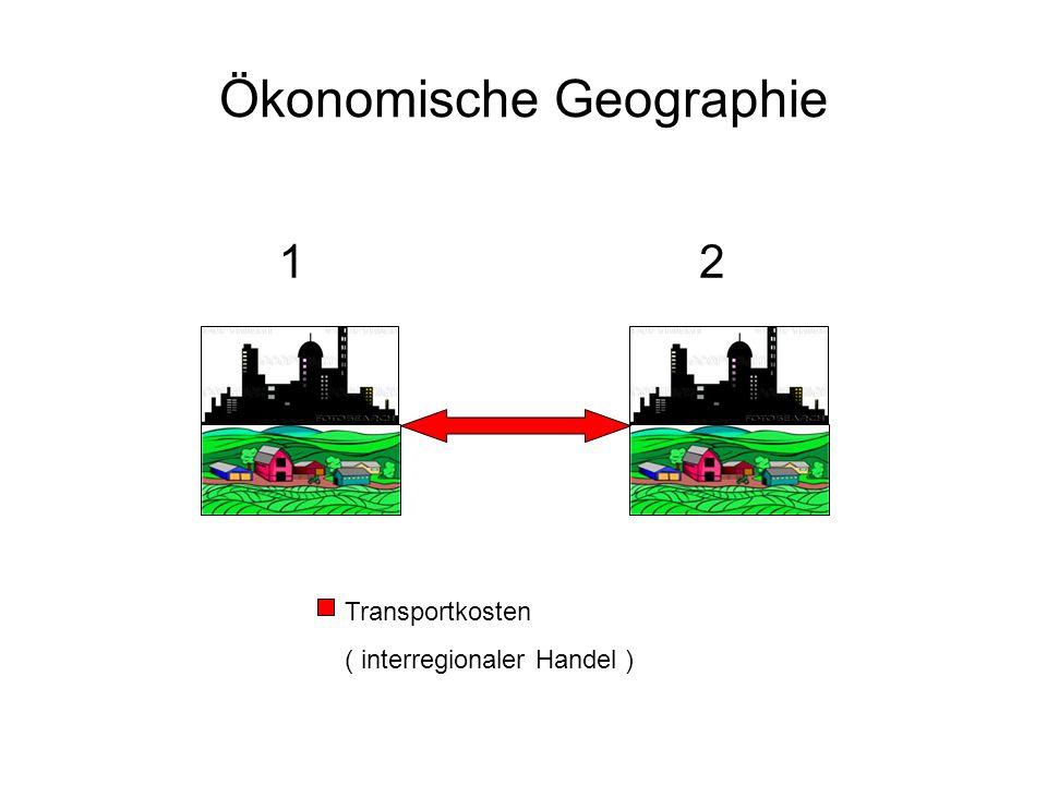 Ökonomische Geographie 12 Transportkosten ( interregionaler Handel )