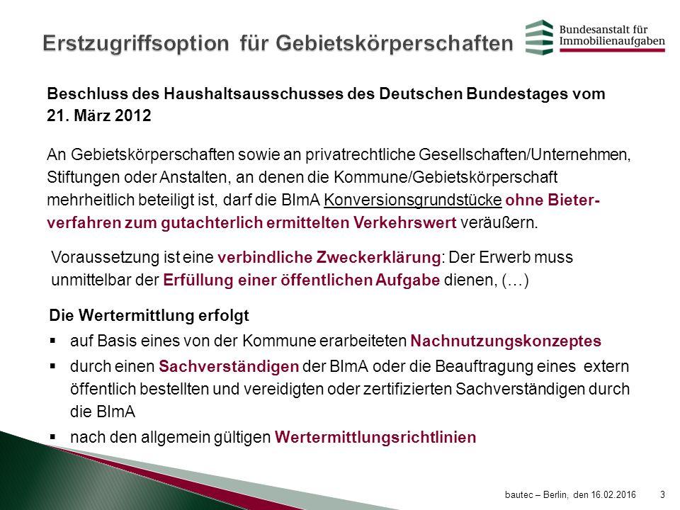 Beschluss des Haushaltsausschusses des Deutschen Bundestages vom 21. März 2012 An Gebietskörperschaften sowie an privatrechtliche Gesellschaften/Unter
