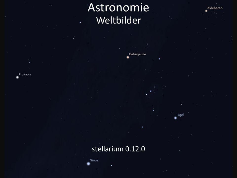Astronomie Was sehen wir heute, wenn wir in den Sternenhimmel schauen? Weltbilder