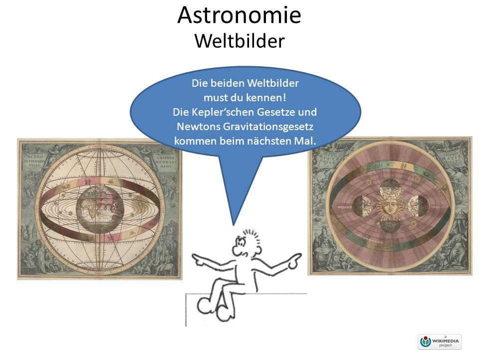 Astronomie Weltbilder Die beiden Weltbilder must du kennen.
