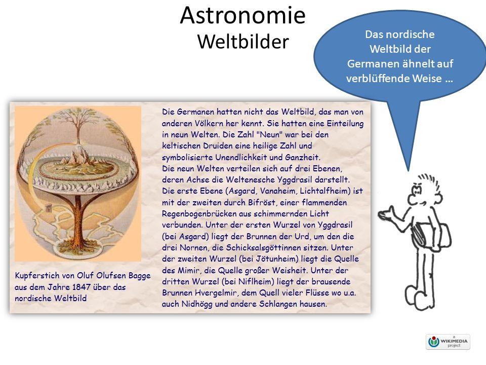 Astronomie Das nordische Weltbild der Germanen ähnelt auf verblüffende Weise … Weltbilder