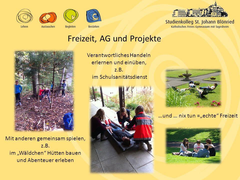 """Mit anderen gemeinsam spielen, z.B. im """"Wäldchen"""" Hütten bauen und Abenteuer erleben Freizeit, AG und Projekte Verantwortliches Handeln erlernen und e"""