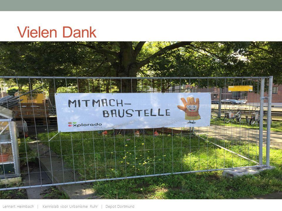 Vielen Dank Lennart Heimbach | Kennislab voor Urbanisme Ruhr | Depot Dortmund