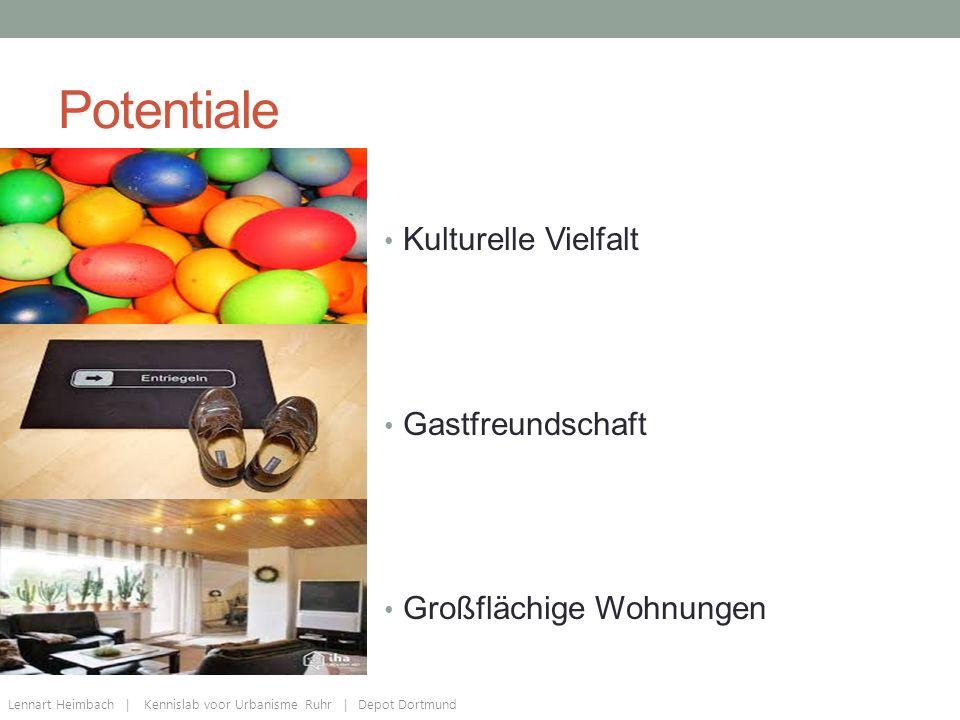 Potentiale Kulturelle Vielfalt Gastfreundschaft Großflächige Wohnungen Lennart Heimbach | Kennislab voor Urbanisme Ruhr | Depot Dortmund