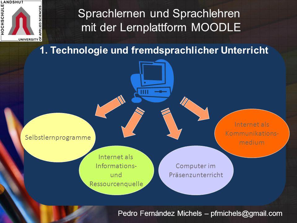 Internet als Kommunikations- medium Internet als Informations- und Ressourcenquelle Was bringt das.