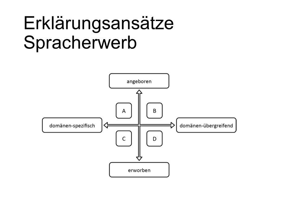 Erklärungsansätze Spracherwerb