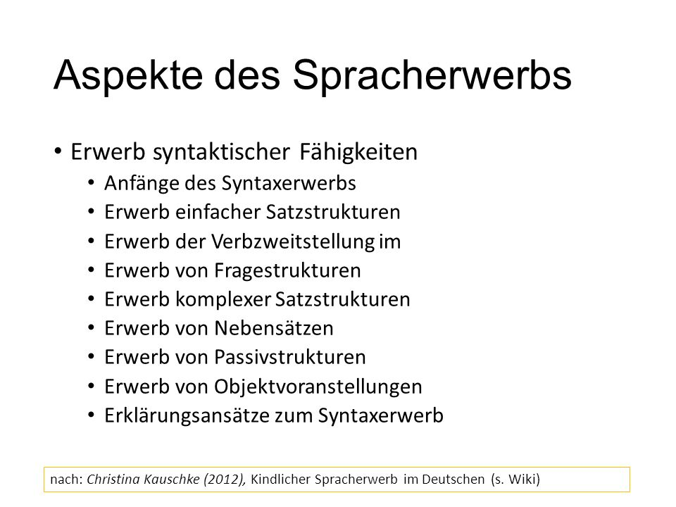 Beispiel Wortsegmentierung Wie erkennen Kinder Wortgrenzen im Sprachsignal.