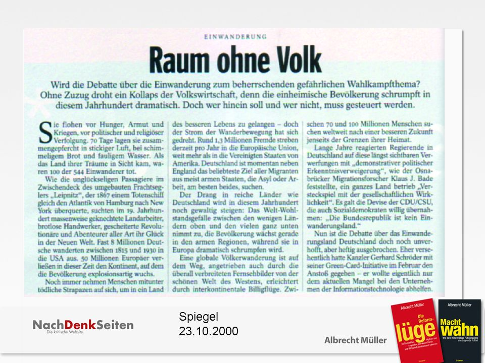 Spiegel 23.10.2000
