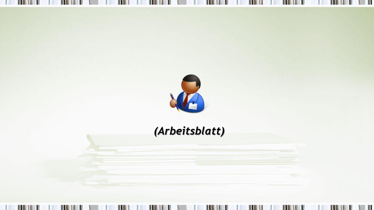 (Arbeitsblatt)