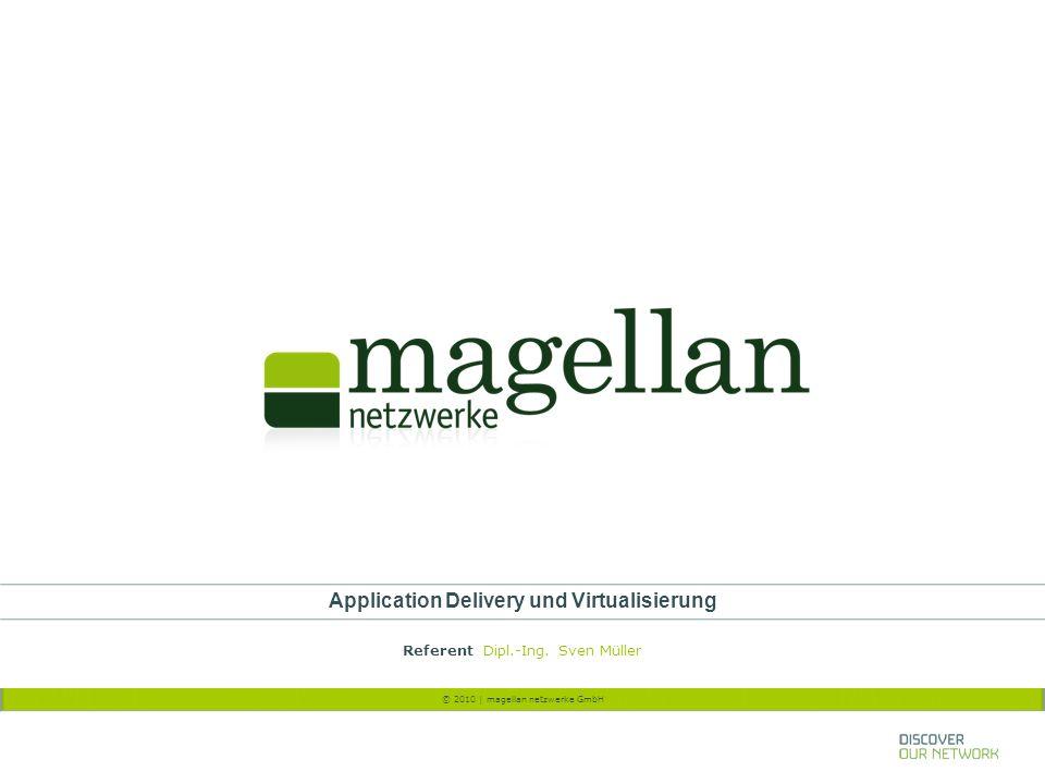 © 2010 | magellan netzwerke GmbH Application Delivery und Virtualisierung Referent Dipl.-Ing. Sven Müller
