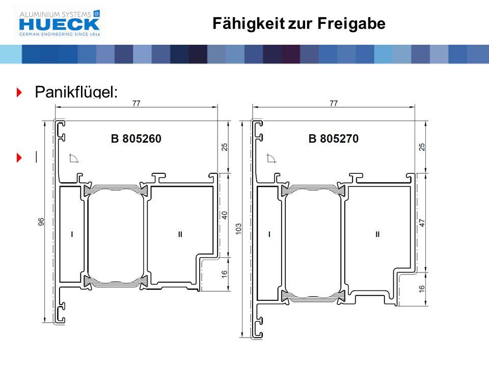Fähigkeit zur Freigabe  Panikflügel:  Keine Zusatzfunktionen  Für Lambda stehen 2 Panikflügelprofile zur Verfügung
