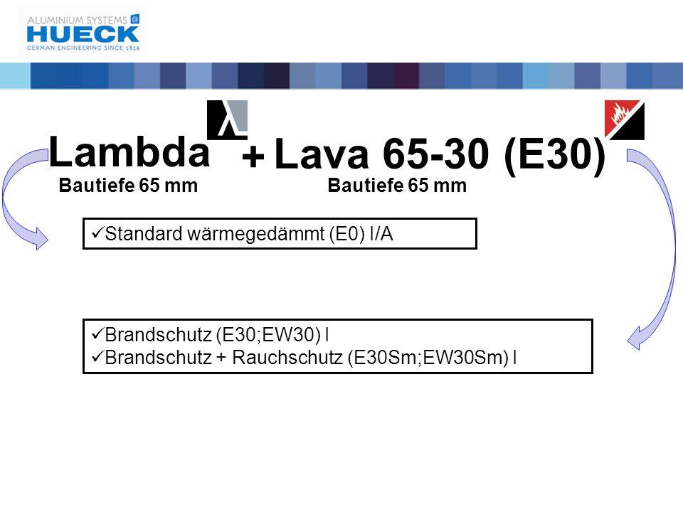 Lambda Lava 65-30 (E30) Bautiefe 65 mm → Glashalter Sicherungswinkel