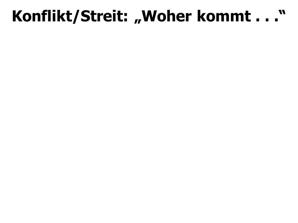 """Konflikt/Streit: """"Woher kommt..."""""""