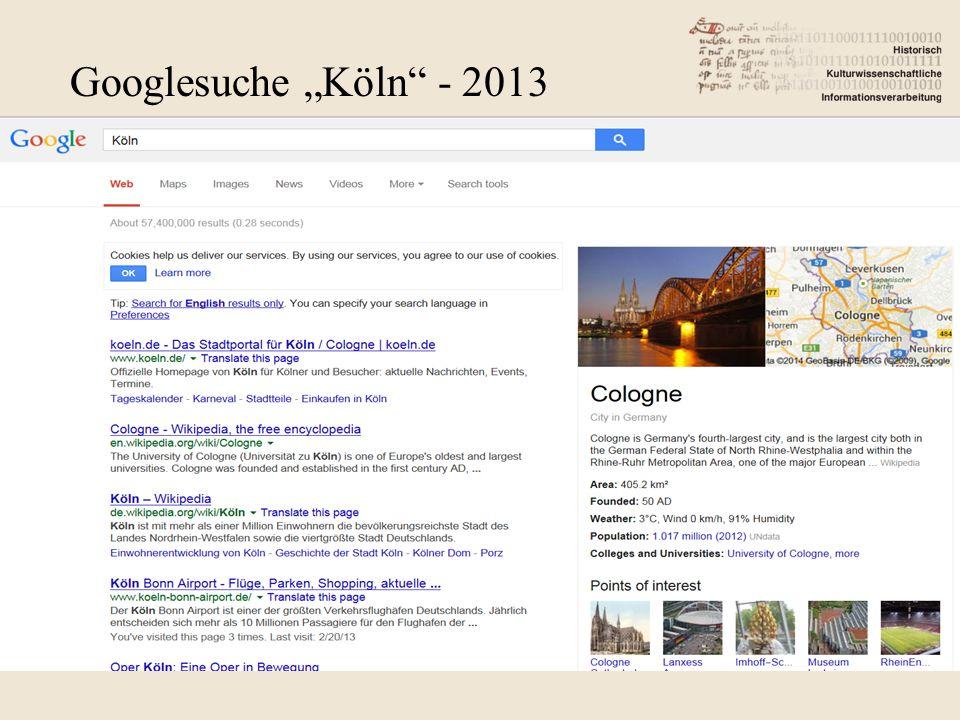 "Googlesuche ""Köln - 2013"