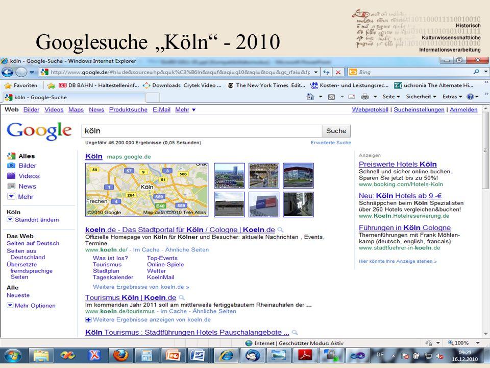 "Googlesuche ""Köln - 2010"