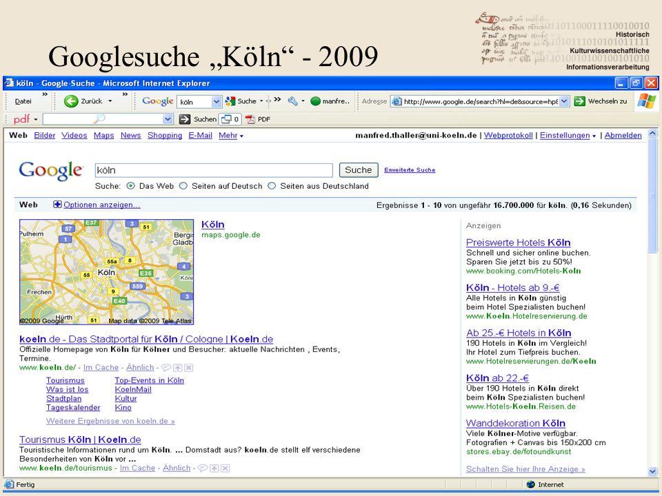 "Googlesuche ""Köln - 2009"