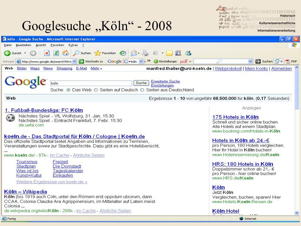"Googlesuche ""Köln - 2008"