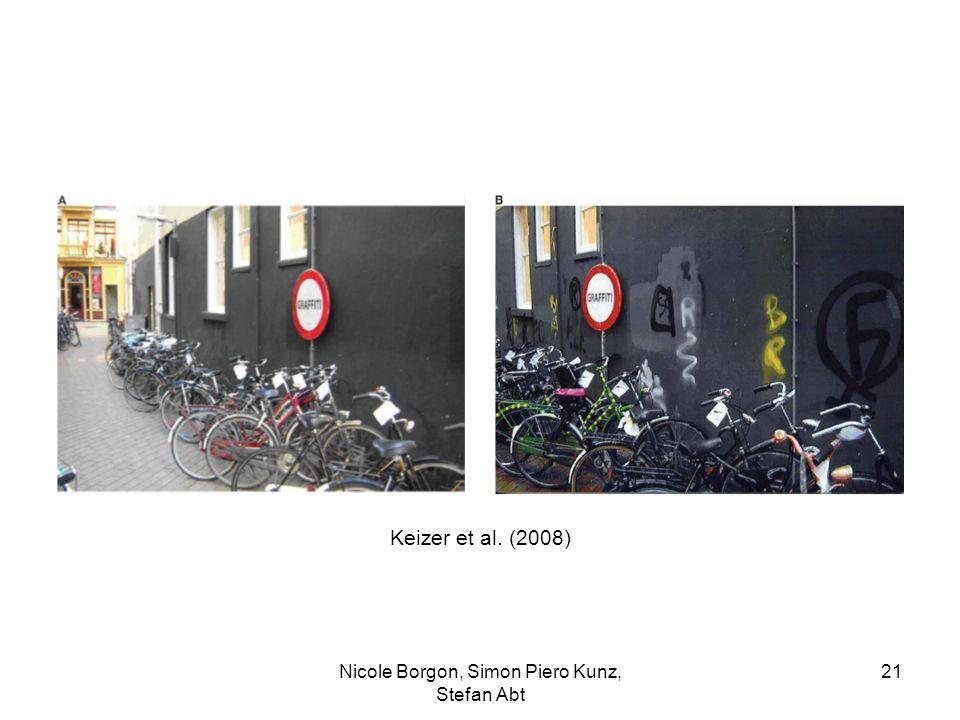 Keizer et al. (2008) Nicole Borgon, Simon Piero Kunz, Stefan Abt 21
