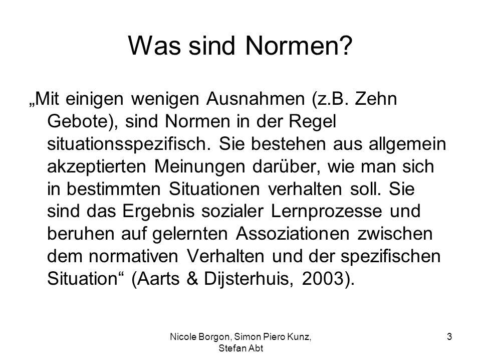"""Was sind Normen? """"Mit einigen wenigen Ausnahmen (z.B. Zehn Gebote), sind Normen in der Regel situationsspezifisch. Sie bestehen aus allgemein akzeptie"""