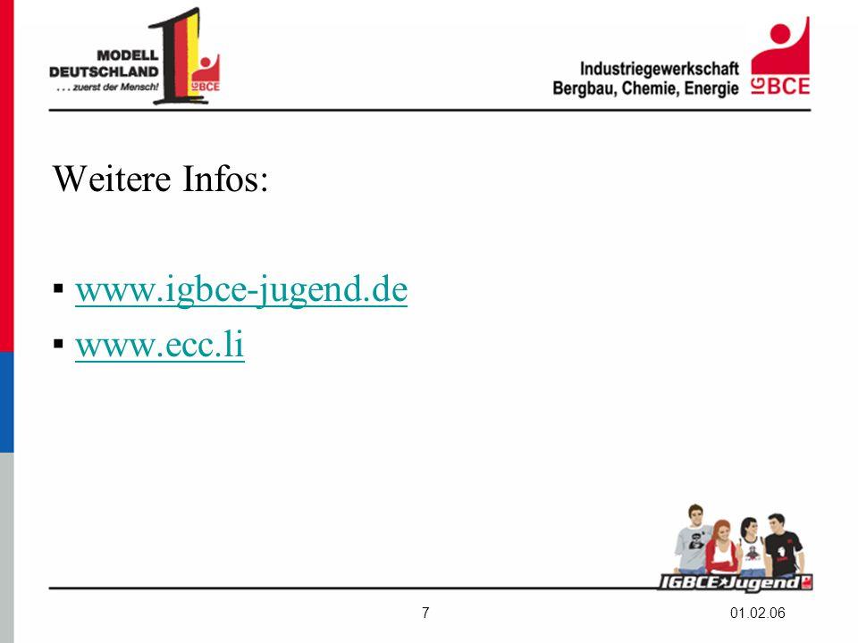01.02.067 Weitere Infos: ▪ www.igbce-jugend.dewww.igbce-jugend.de ▪ www.ecc.liwww.ecc.li