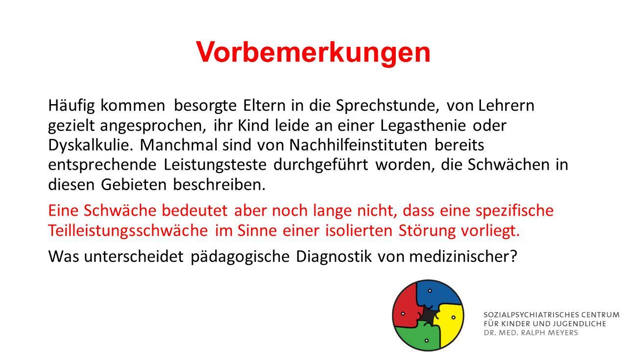 Häufigkeit in Deutschland Von einer Legasthenie sind ca.