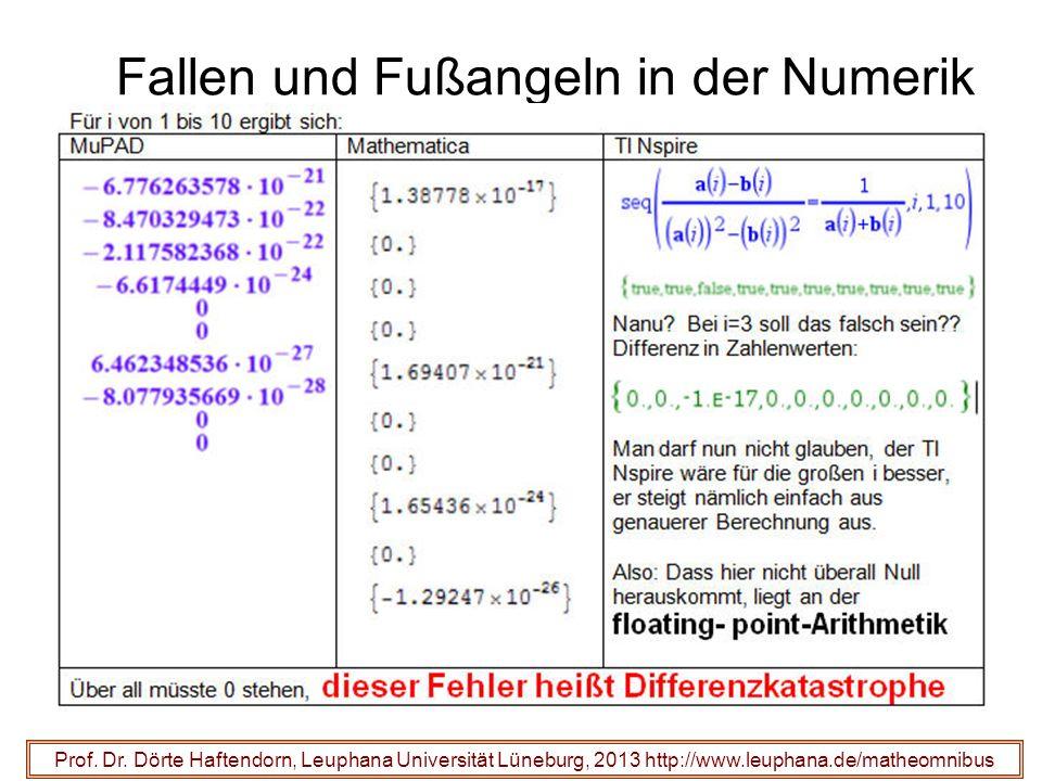 Fallen und Fußangeln in der Numerik Prof. Dr.