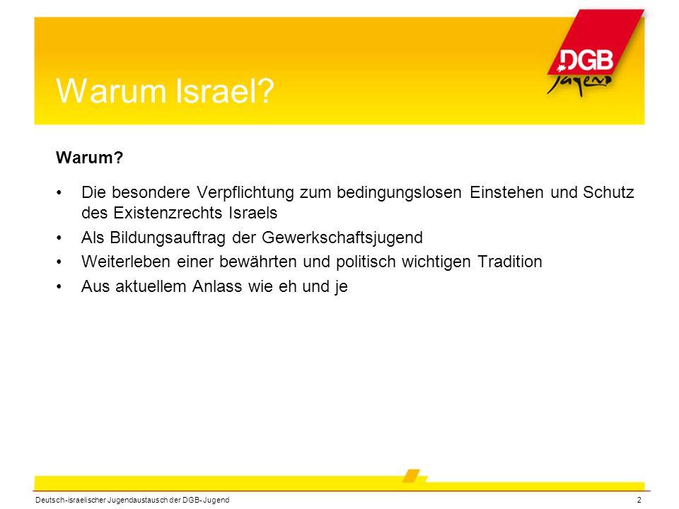 Deutsch-israelischer Jugendaustausch der DGB- Jugend2 Warum Israel.