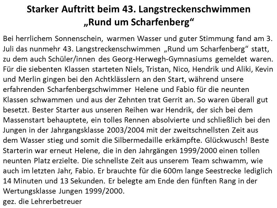 """Bestes Wetter bei """"Rund um Scharfenberg Merlin und Kevin am Start"""