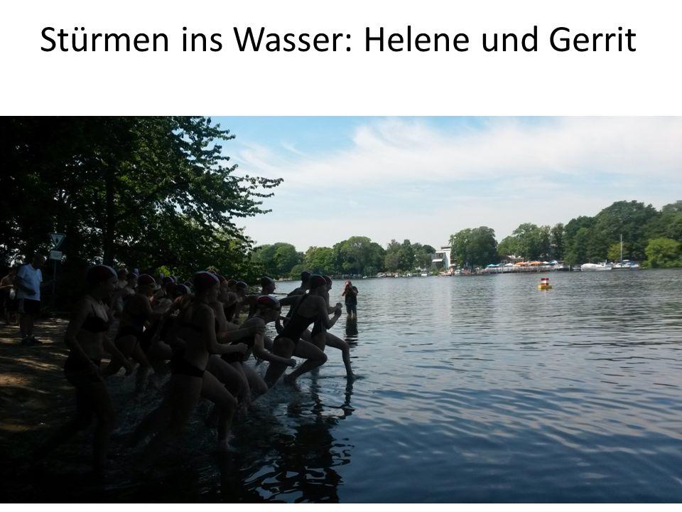 Stürmen ins Wasser: Helene und Gerrit