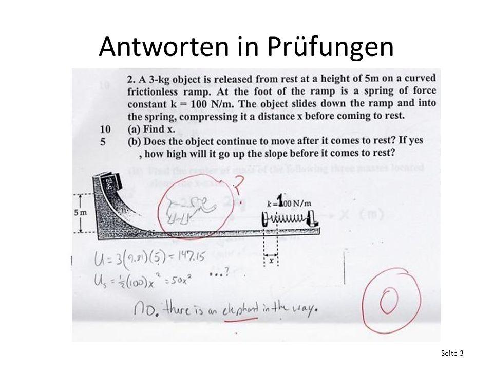 Antworten in Prüfungen Seite 3