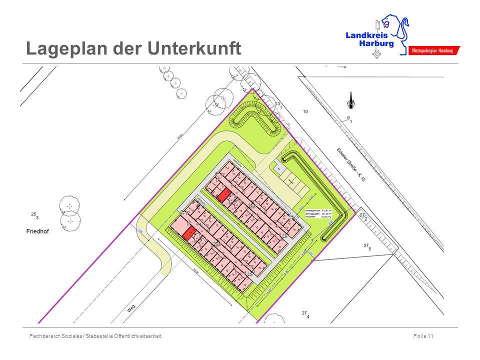 Fachbereich Soziales / Stabsstelle Öffentlichkeitsarbeit Folie 11 Lageplan der Unterkunft