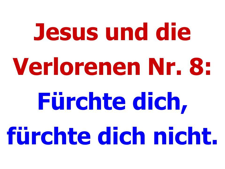 Jesus und die Verlorenen Nr. 8: Fürchte dich, fürchte dich nicht.