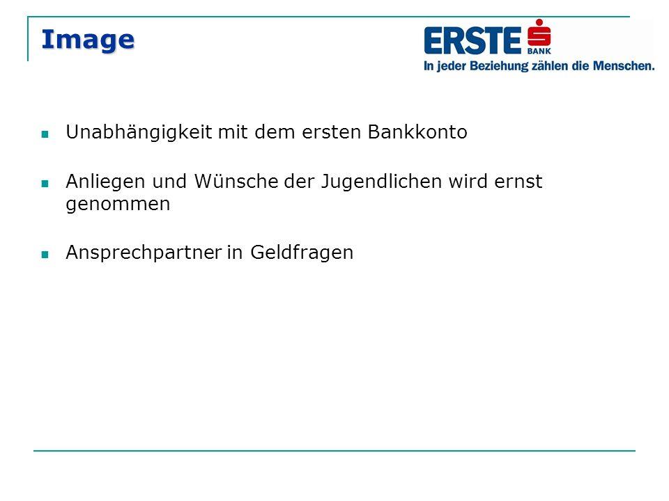 Image Unabhängigkeit mit dem ersten Bankkonto Anliegen und Wünsche der Jugendlichen wird ernst genommen Ansprechpartner in Geldfragen