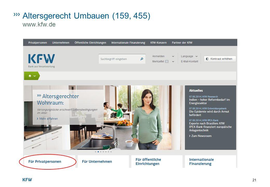 Altersgerecht Umbauen (159, 455) www.kfw.de 21
