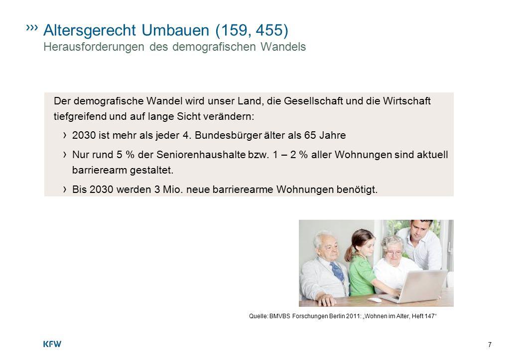 8 Altersgerecht Umbauen (159, 455) Der demografische Wandel › Bevölkerungsentwicklung: bis 2020: rd.
