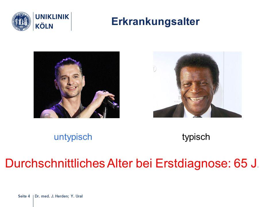 Dr. med. J. Herden; Y. UralSeite 4 5-40 Durchschnittliches Alter bei Erstdiagnose: 65 J. Erkrankungsalter untypischtypisch