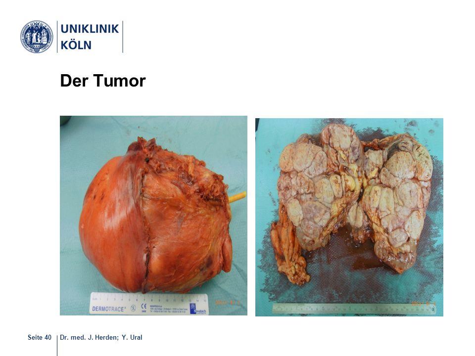 Dr. med. J. Herden; Y. UralSeite 40 Der Tumor