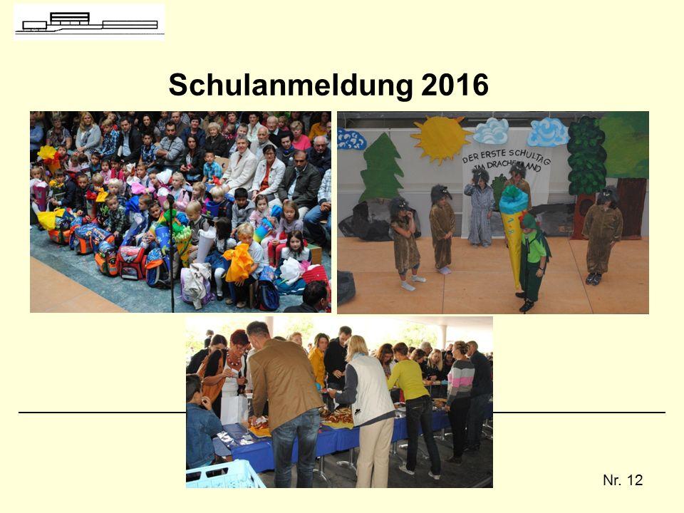 Nr. 12 Schulanmeldung 2016